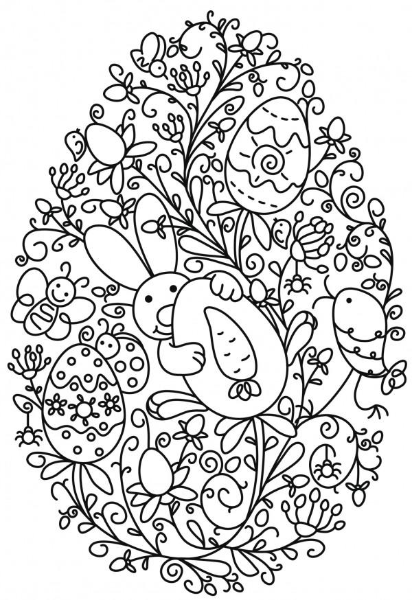 Mandalas de Pascuas para imprimir y colorear  Colorear ...