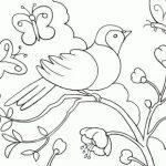 Dibujos de la primavera con mariposas para pintar