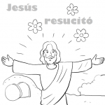 Dibujos del Domingo de Resurrección para descargar, imprimir y pintar