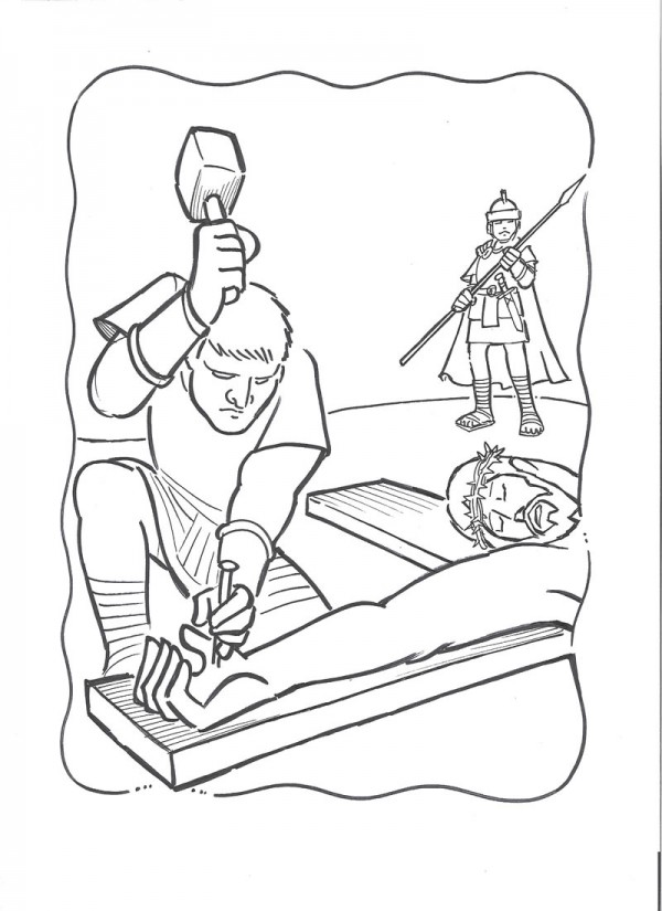 dibujo de jesus para colorear dibujos de semana santa