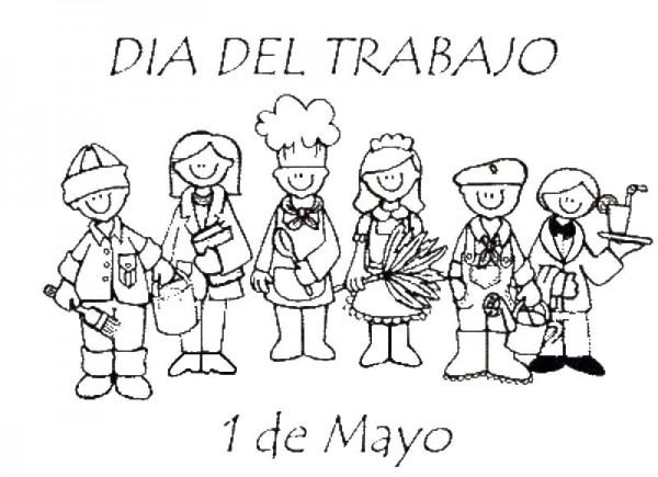 30 dibujos para imprimir y pintar del Día del Trabajador: 1º de ...