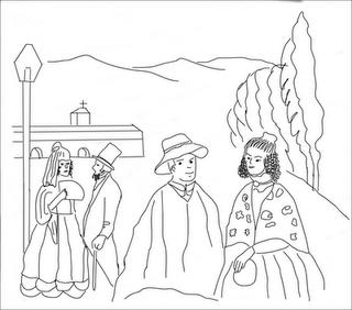 Dibujos de la poca colonial para pintar  Colorear imgenes