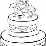 Dibujos de tortas de bodas para imprimir y pintar