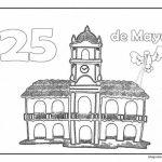 Muchos dibujos para pintar del Cabildo de Buenos Aires y del 25 de mayo de 1810
