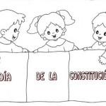 Dibujos del Día de la Constitución Nacional Argentina para pintar