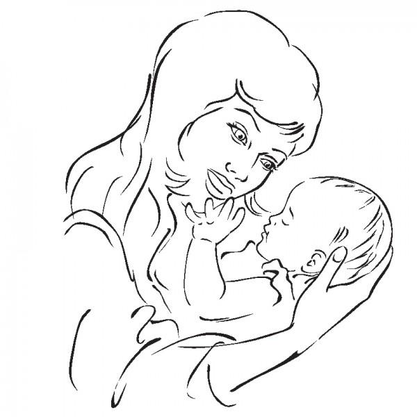 Dibujos del Da de la Madre para pintar y regalar a mam