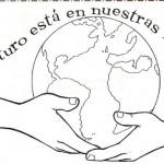 Pintando dibujos del Día Mundial de la Tierra
