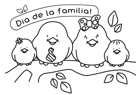 Dibujos del Da de la Familia para imprimir y pintar  Colorear