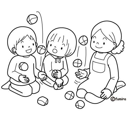 Dibujos de niños jugando para colorear  Colorear imágenes