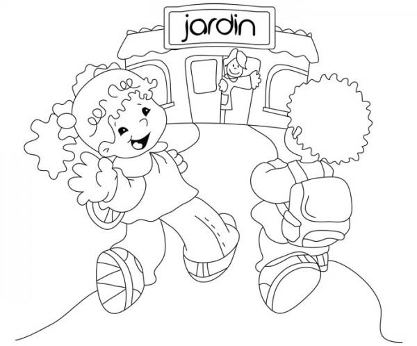 Dibujos del Da de los Jardines de Infantes para colorear