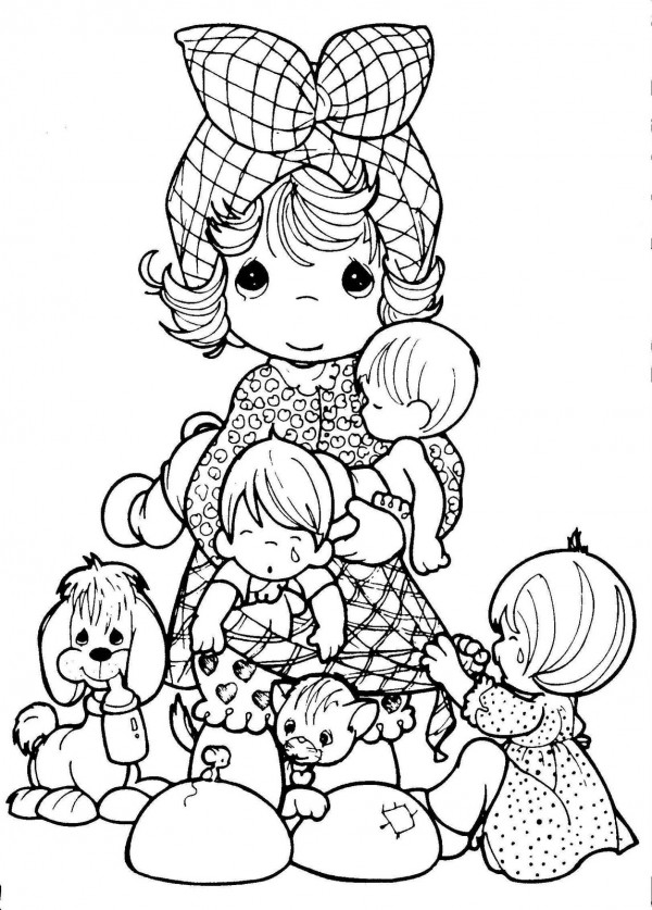 precious moments coloring pages military - photo#2