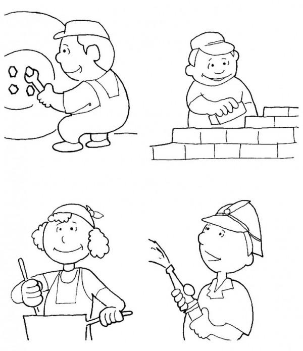 Imágenes Del Día Del Trabajador Para Colorear Dibujos
