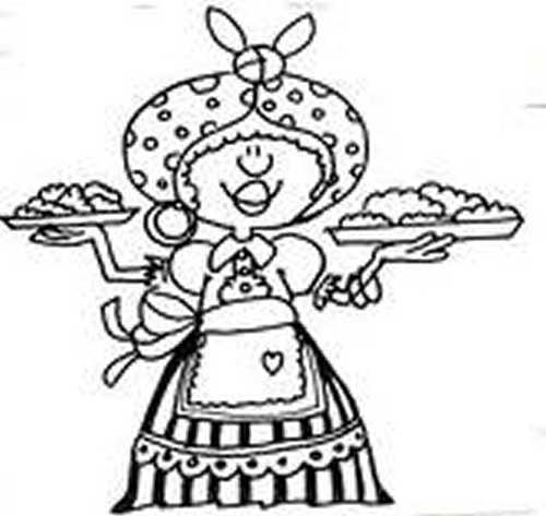 Dibujos de vendedoras de empanadas del 25 de mayo de 1810   Colorear