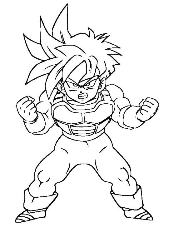 Worksheet. Imgenes para colorear de Dragon Ball Z muy originales  Colorear
