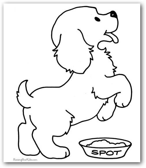 Dibujos de perros cachorros para colorear  Colorear imágenes
