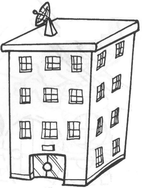 Dibujos de edificios f ciles para colorear colorear im genes - Imagenes infantiles de casas para colorear ...