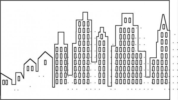 Dibujos de edificios fciles para colorear  Colorear imgenes