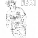 Dibujos de jugadores de fútbol famosos para pintar: Messi, Cristiano y Neymar para colorear