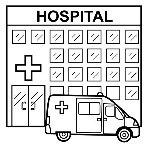 Dibujos de hospitales para colorear  Colorear imgenes