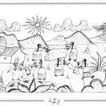Dibujos de indígenas para imprimir y colorear