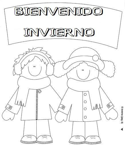 Dibujos de Bienvenido Invierno para imprimir y pintar 30 imgenes