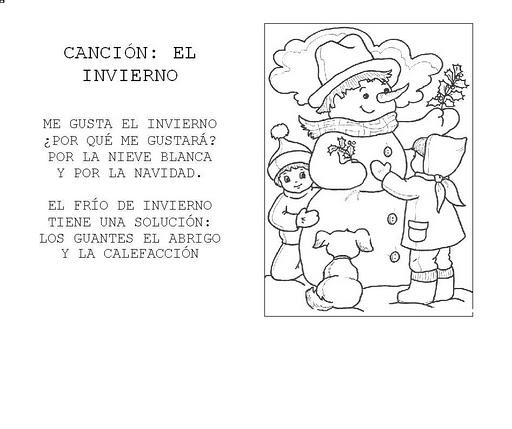 Dibujos De Bienvenido Invierno Para Imprimir Y Pintar: 30