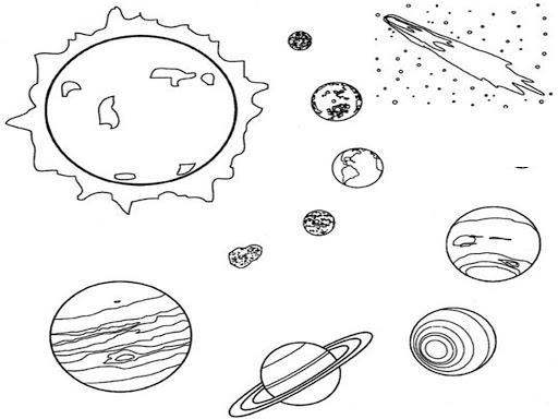 Imágenes del los planetas para colorear  Colorear imágenes