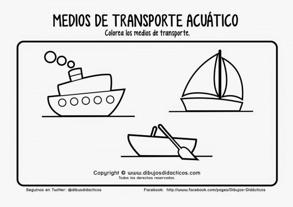 Worksheet. Plantillas de dibujos de medios de transportes para colorear