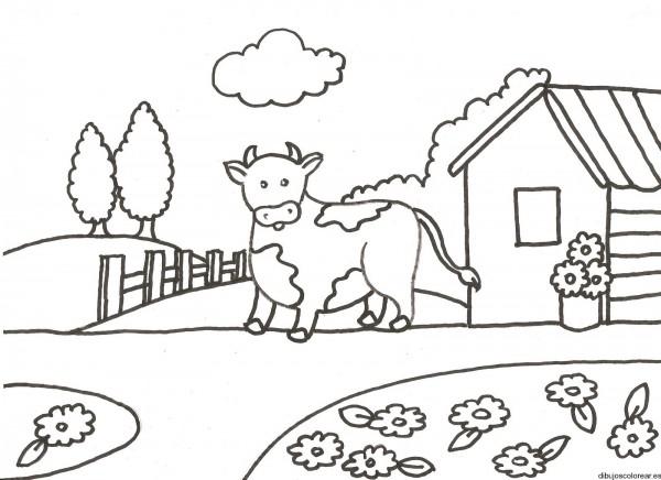 Dibujos de paisajes rurales para colorear  Colorear imgenes