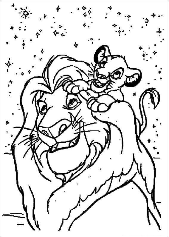 Dibujos del Rey Len para imprimir y pintar  Colorear imgenes