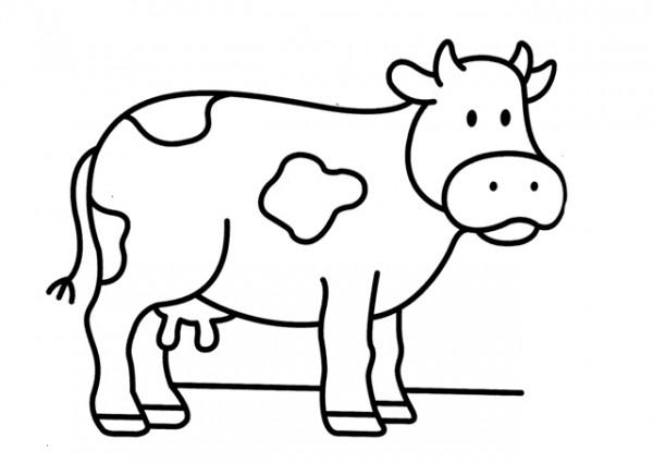 Imagen De Español Para Colorear: Pintando Dibujos De Vacas Para Imprimir Y Colorear