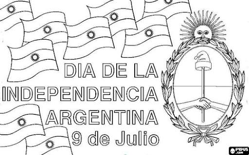 Bicentenario de la Independencia Argentina para colorear 9 de