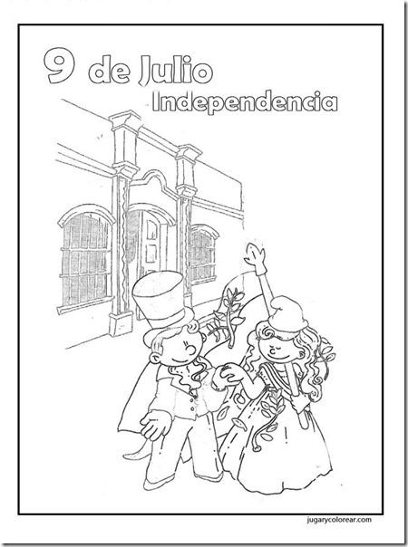Bicentenario de la Independencia Argentina para colorear: 9 de julio