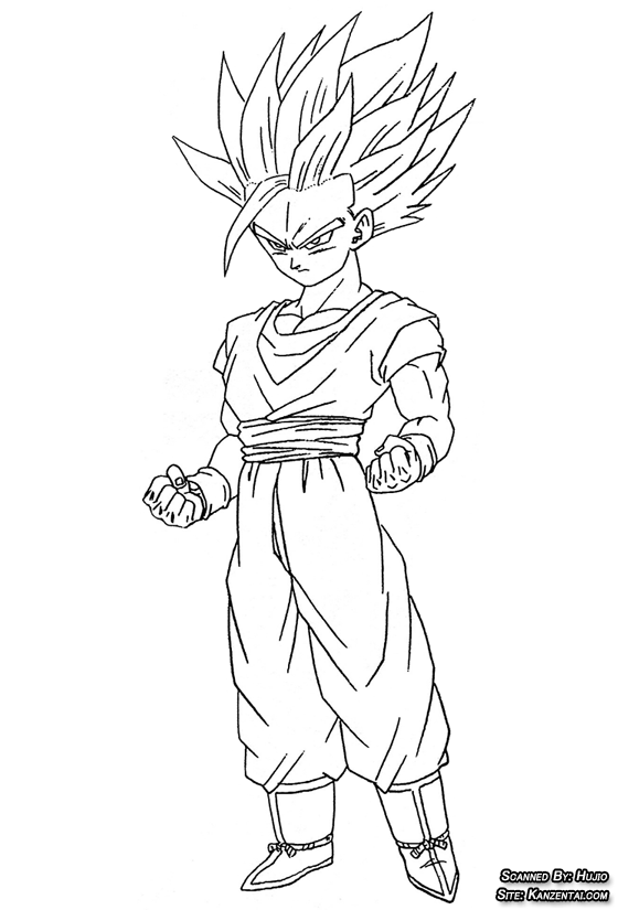 young gohan coloring pages