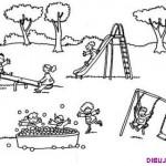 Dibujos de niños jugando para pintar