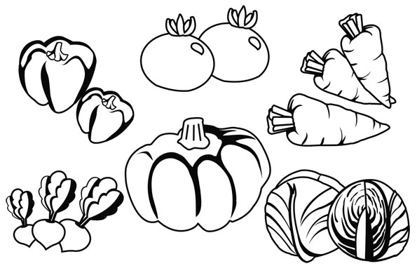 Dibujos de verduras para imprimir y colorear colorear im 225 genes
