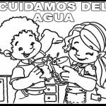 Dibujos del cuidado del agua para colorear el 22 de marzo Día Mundial del agua