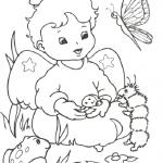Dibujos de angelitos tiernos para colorear