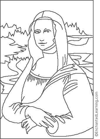 Dibujos de obras de arte de famosos pintores para colorear