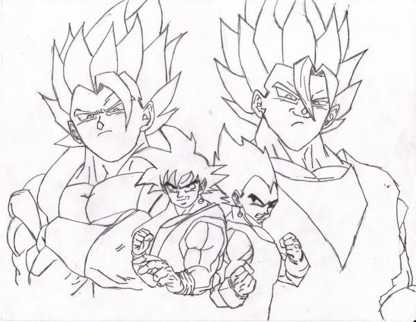 Vegeta Para Colorear Baby Para Goku Y Vegeta Para Pintar: Dibujo De Goku Y Vegeta Para Imprimir Y Colorear