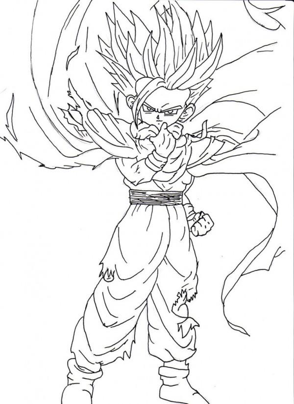 Imágenes para colorear de Dragon Ball Z muy originales ...