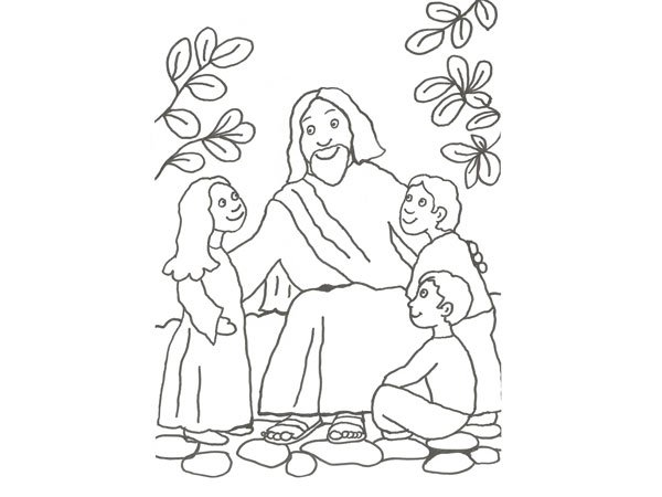 Libro Para Colorear Madre Hija Ilustraciones Vectoriales Clip: Dibujos De Jesús Para Imprimir Y Colorear