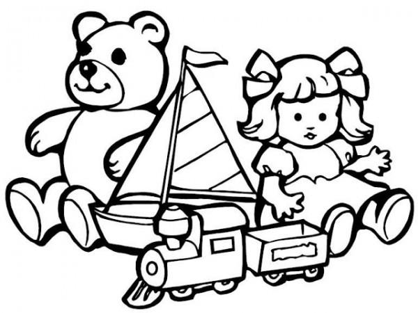Dibujos infantiles de juguetes para imprimir y colorear  Colorear
