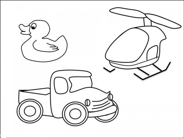 Dibujos infantiles de juguetes para imprimir y colorear ...