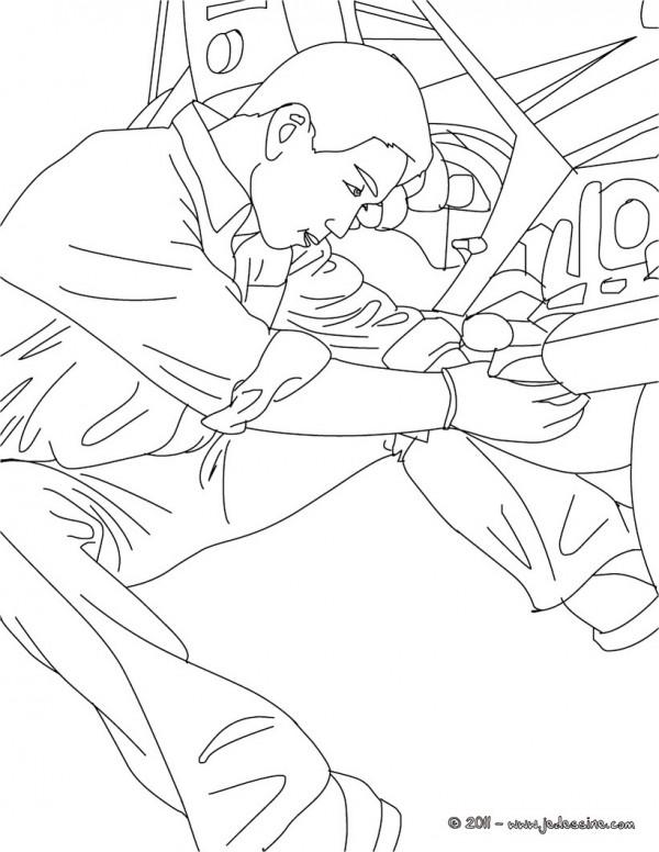 Dibujos De Mec 225 Nicos Trabajando Para Colorear Colorear