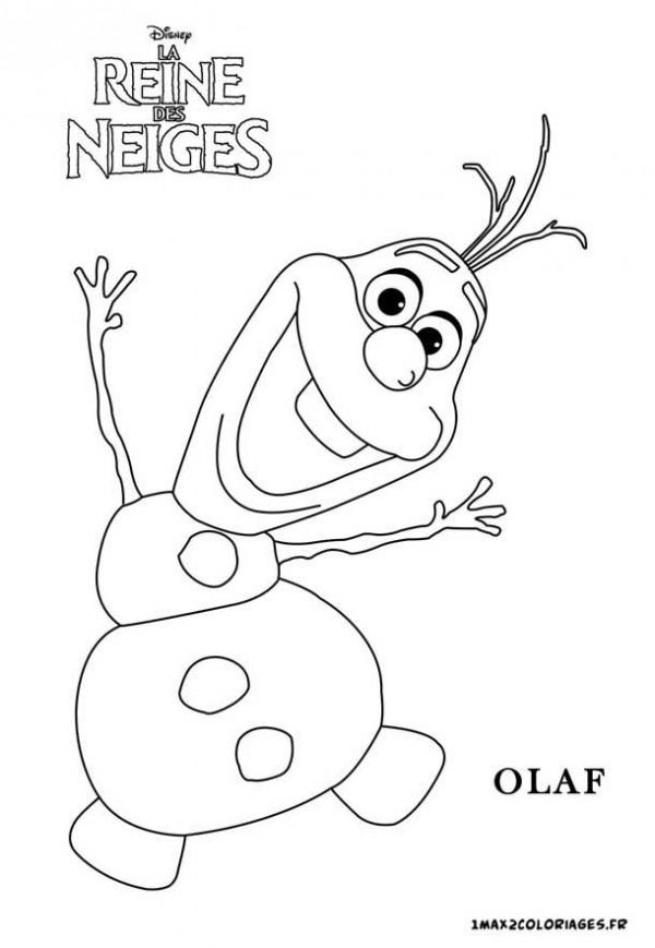 Divertidos dibujos de Olaf para pintar  Colorear imgenes