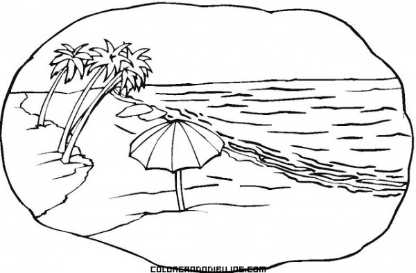 ocean beach coloring pages - photo #4