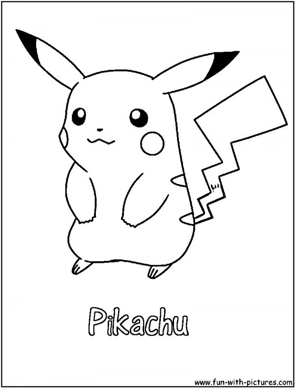 Dibujos de Pikachu para colorear  Colorear imgenes