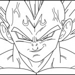Vegeta de Dragon Ball Z – Dibujos para pintar