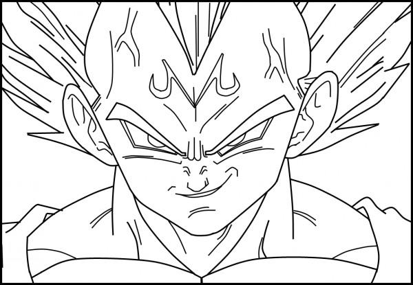Dibujos Para Colorear Vegetta 777: Vegeta De Dragon Ball Z – Dibujos Para Pintar